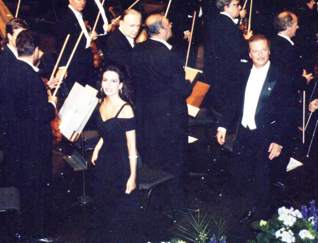 """Lucia Aliberti con Alfredo Kraus nell'Opera """"Lucia di Lammermoor"""" alla Deutsche Oper di Berlino"""