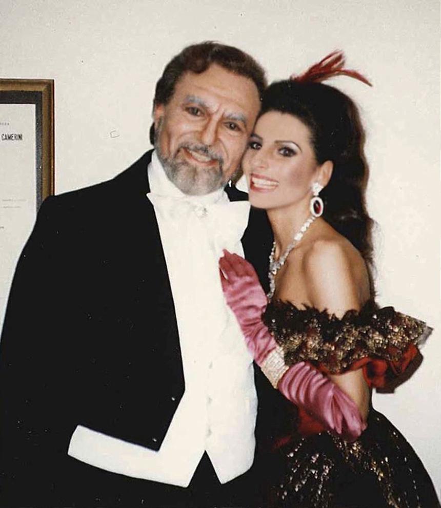"""_3 Lucia Aliberti col baritono Renato Bruson nell'Opera_La Traviata"""",Rome Opera House,Roma"""